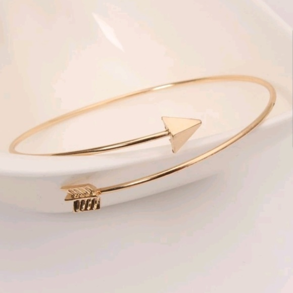 2d92a6aed895 5 for  25 Gold Color Arrow Cuff Bracelet